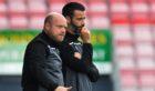 Ross County co-managers Stuart Kettlewell and Steven Ferguson (L)