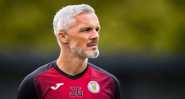 Jim Goodwin endured a difficult time in the Betfred Cup