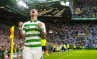 Leigh Griffiths celebrates after scoring to make it 3-0