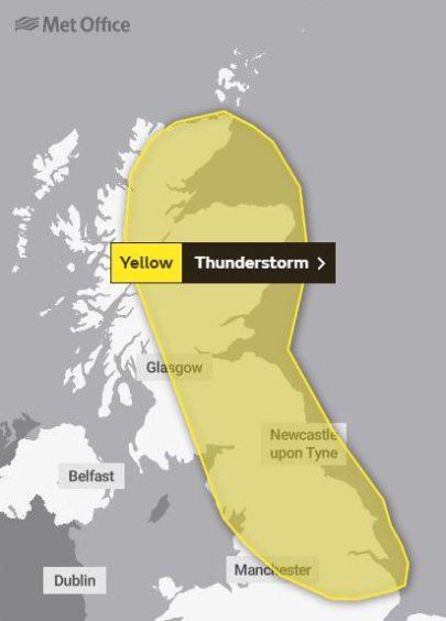 Thursday's weather warning