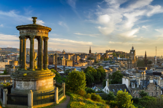 Calton Hill offers one of the best vantage points of Edinburgh