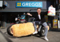 The world's first Sausage Roll-Mobile was unveiled today by self-confessed Greggs fan Joe Swash, as it hit the road in London to celebrate Greggs now being available for delivery on leading global online food delivery service, Just Eat.  The new partnership is currently live in London, Newcastle and Glasgow and available to order via the Just Eat app or online at just-eat.co.uk.
