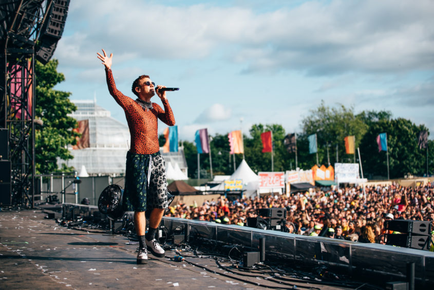 Years and Years frontman Olly Alexander on stage