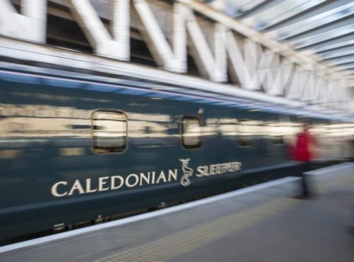 The Caledonian Sleeper service.