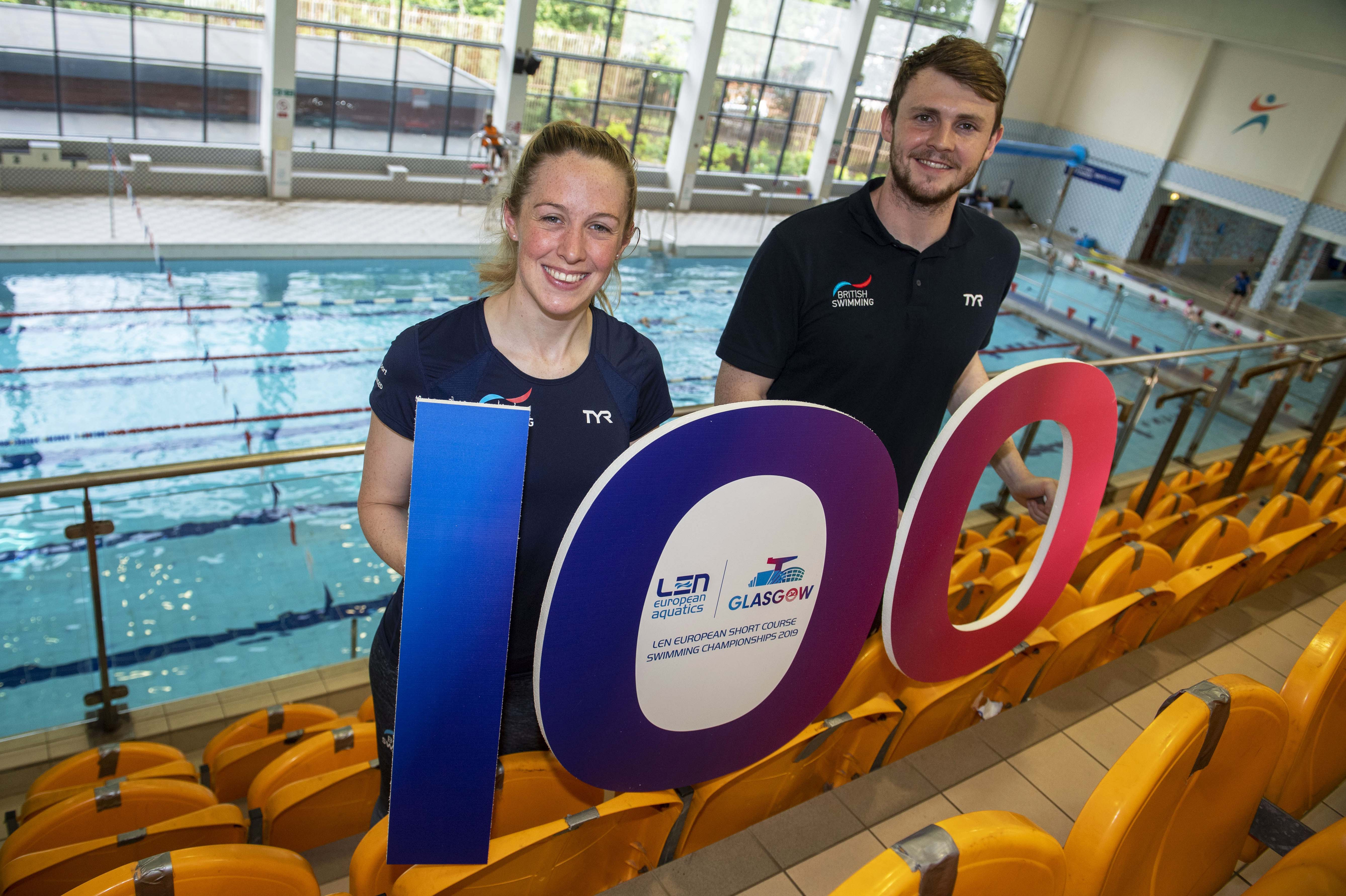 Hannah Miley and Ross Murdoch mark 100 days to the LEN European Short Course Swimming Championships