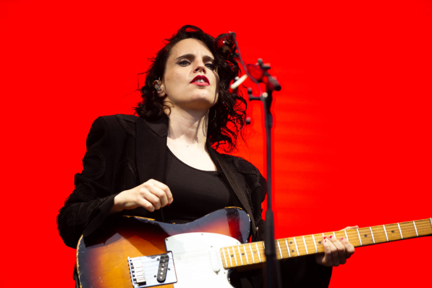 Anna Calvi performing on the main stage