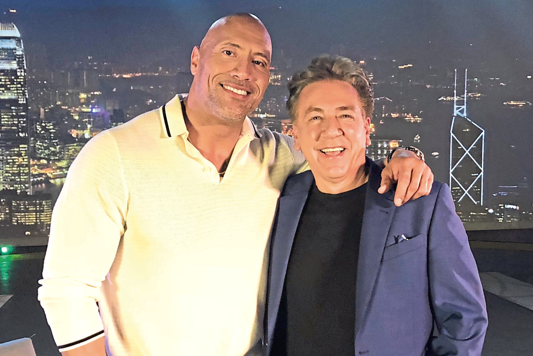 On a roll with The Rock: Dwayne and Ross
