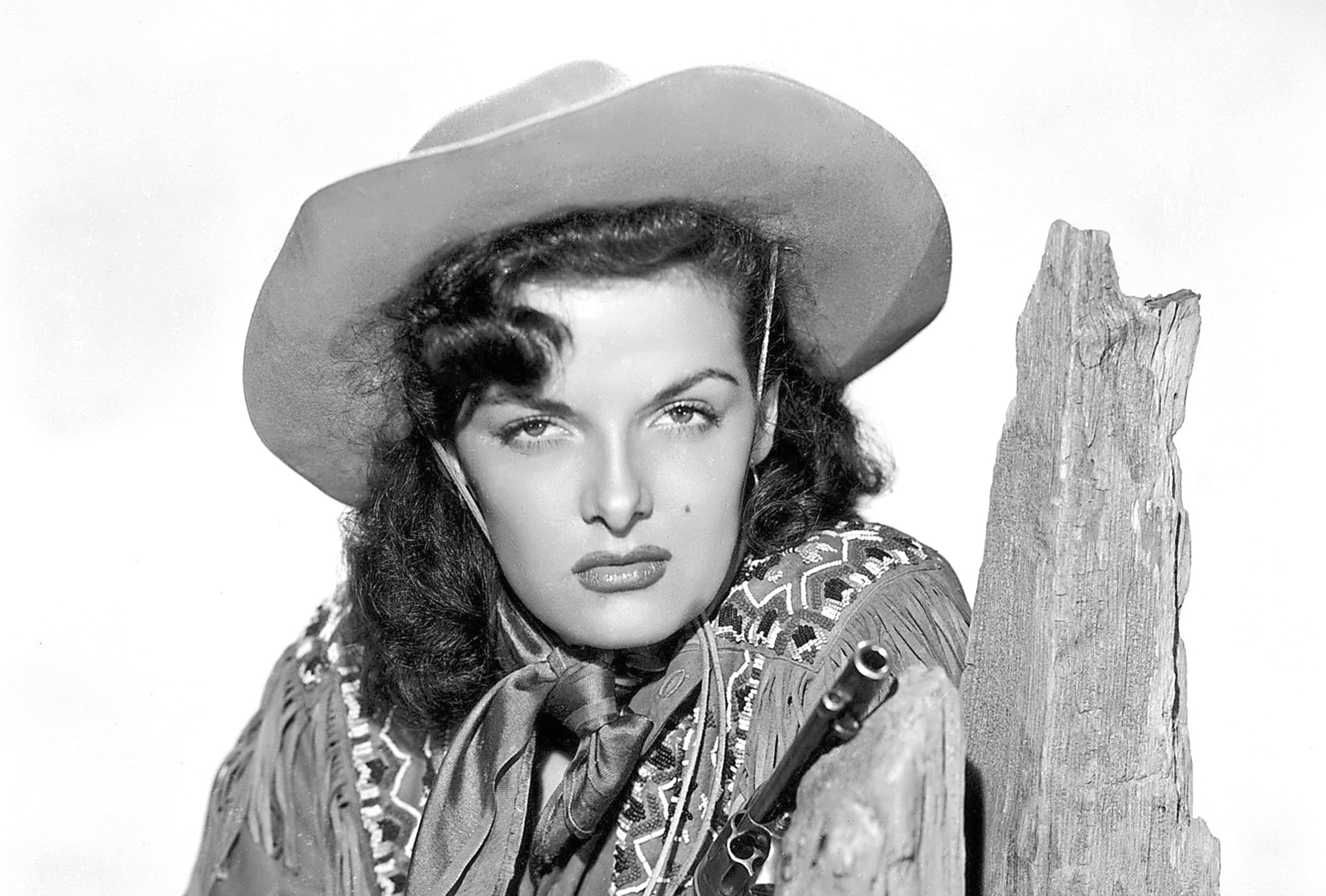 """Jane Russell in """"The Paleface"""" which was released December 24, 1948"""