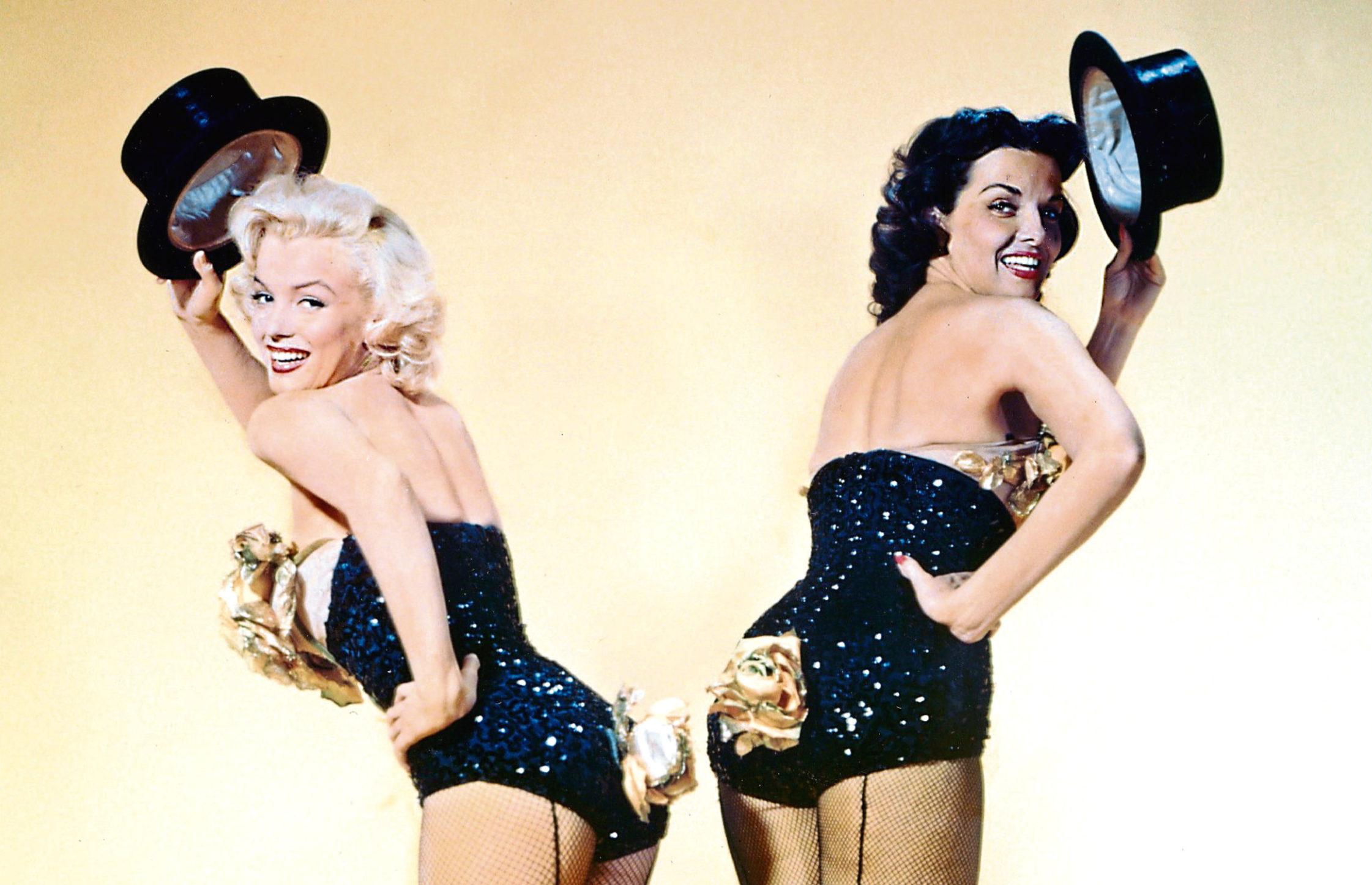 Marilyn Monroe and Jane Russell in Gentlemen Prefer Blondes, 1953