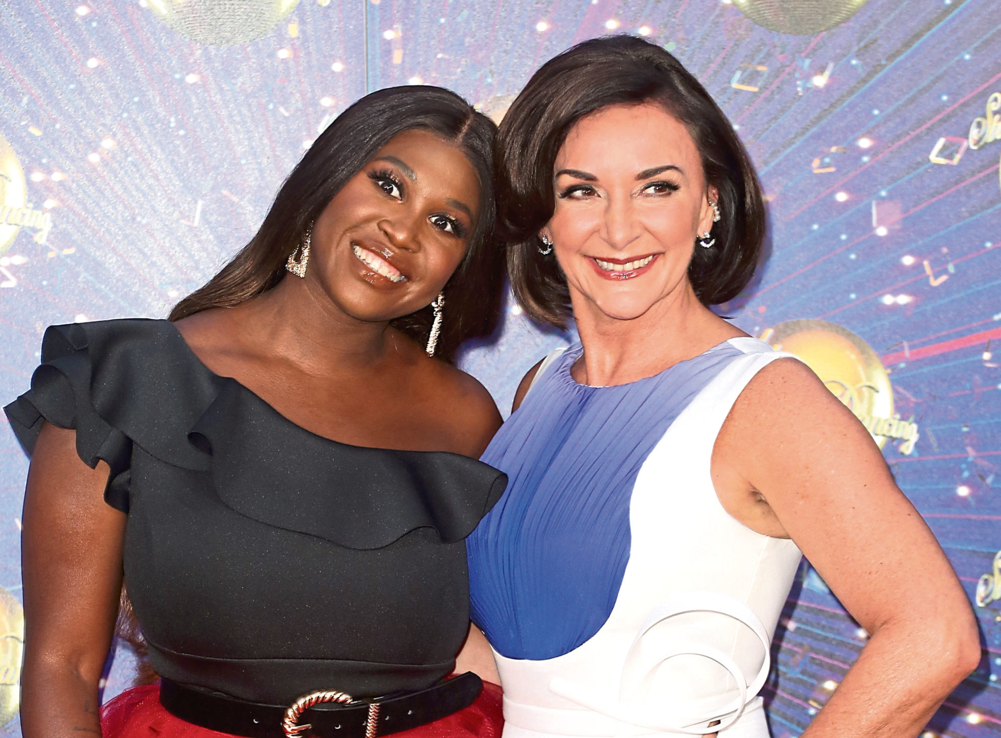 """Motsi Mabuse and Shirley Ballas attend the """"Strictly Come Dancing"""" launch show red carpet at Television Centre."""