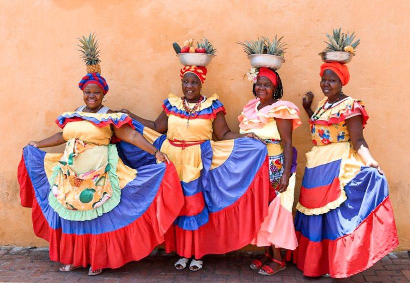 The Palenqueras of Cartagena.