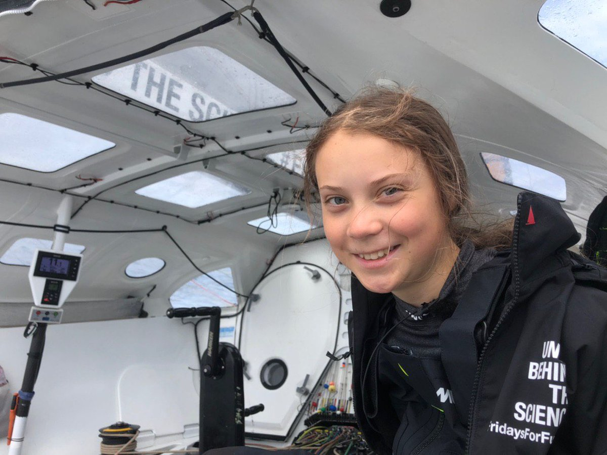 Greta hopes to arrive in New York on the Malizia II by September 21