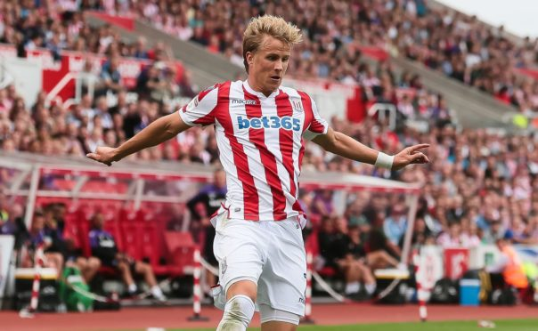 Moritz Bauer in action for Stoke