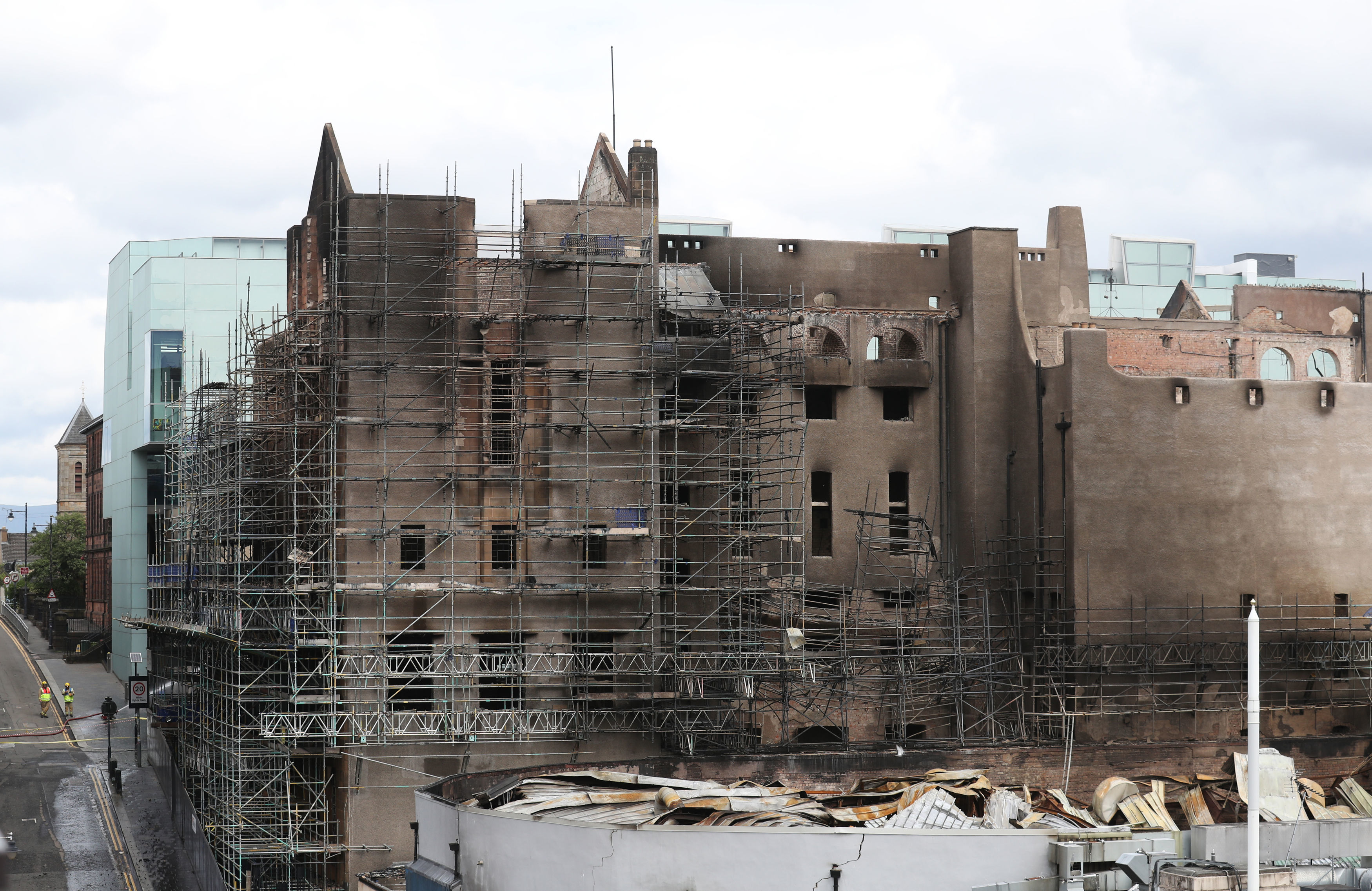 The art school lies devastated after the second blaze.