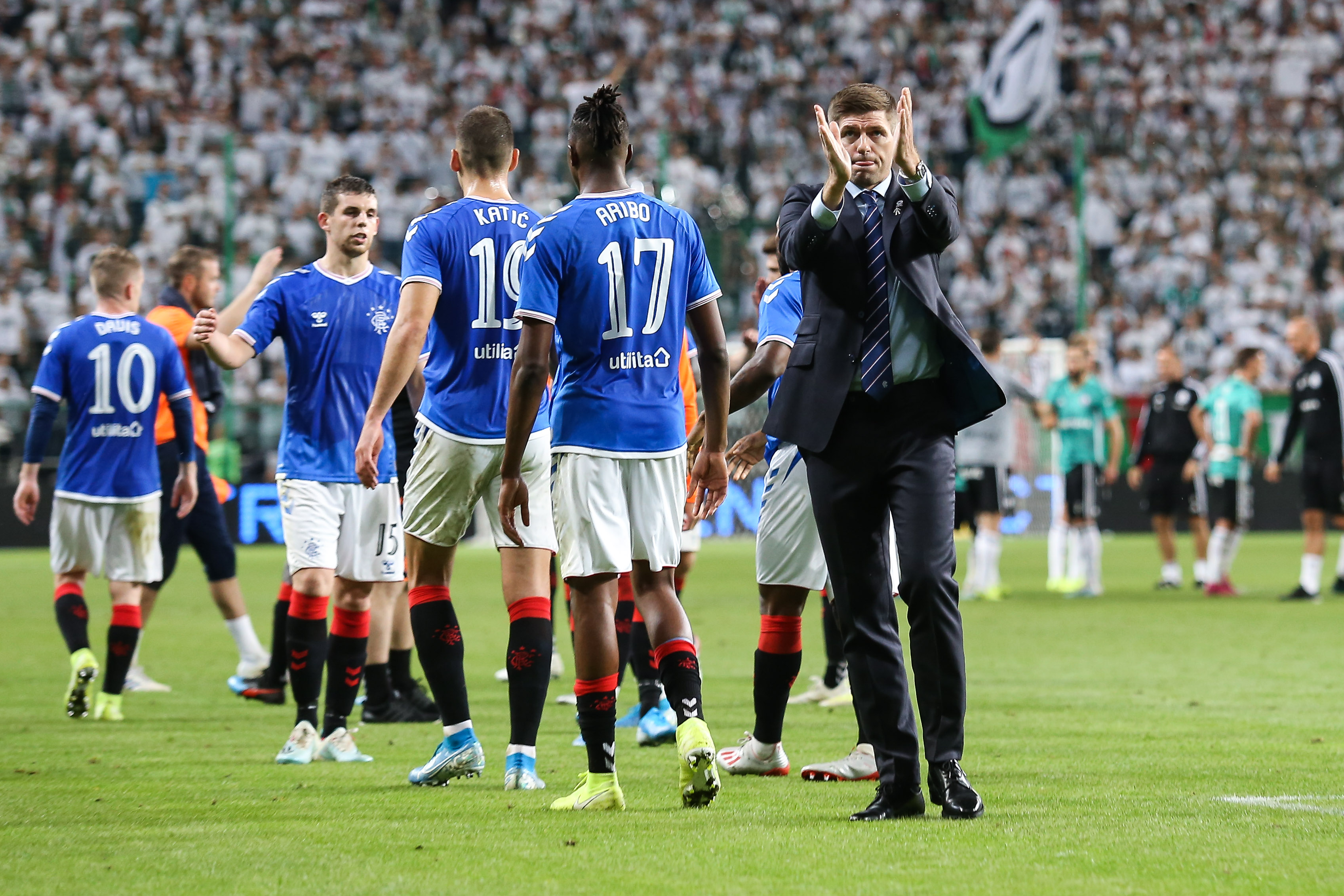 Rangers left Poland with a 0-0 draw against Legia Warsaw