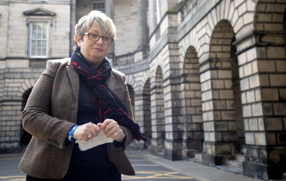 SNP MP Joanna Cherry outside the Court of Session
