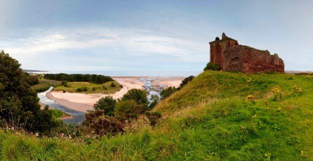 Red Castle above Lunan Bay