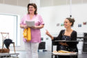Elaine C Smith with Sadie Frost during rehearsals of Red Dust Road