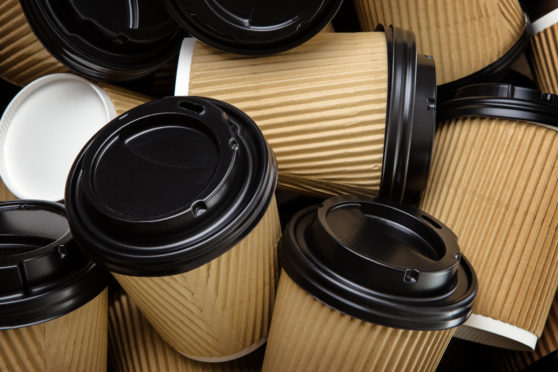Take-out coffee cups