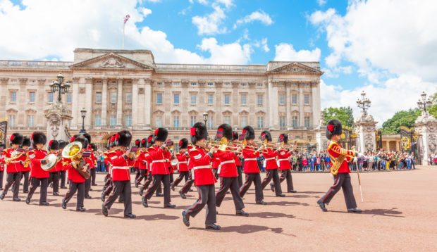 Buckingham Palace and the changing of the guard