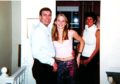 Prince Andrew, Virginia Roberts, aged 17, and Ghislaine Maxwell at Ghislaine Maxwell's townhouse in London, Britain on March 13 2001.