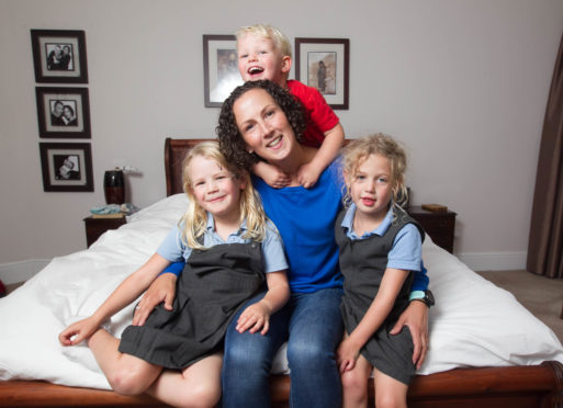 High school teacher Ruth Scott, 44, from Glasgow, had her third child Matthew, three, when she was 41. She is also mum to Anna. six, and Emily, four.