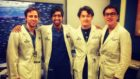 Dr Ahmer Irfan, 2nd left, with Johns Hopkins Hospital Baltimore colleagues after moving from Glasgow.