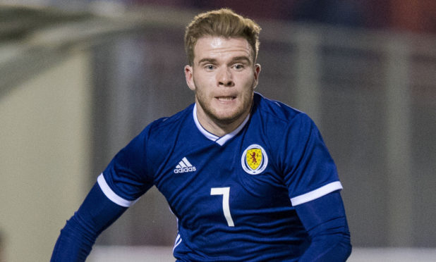 Chris Cadden in action for Scotland U21s