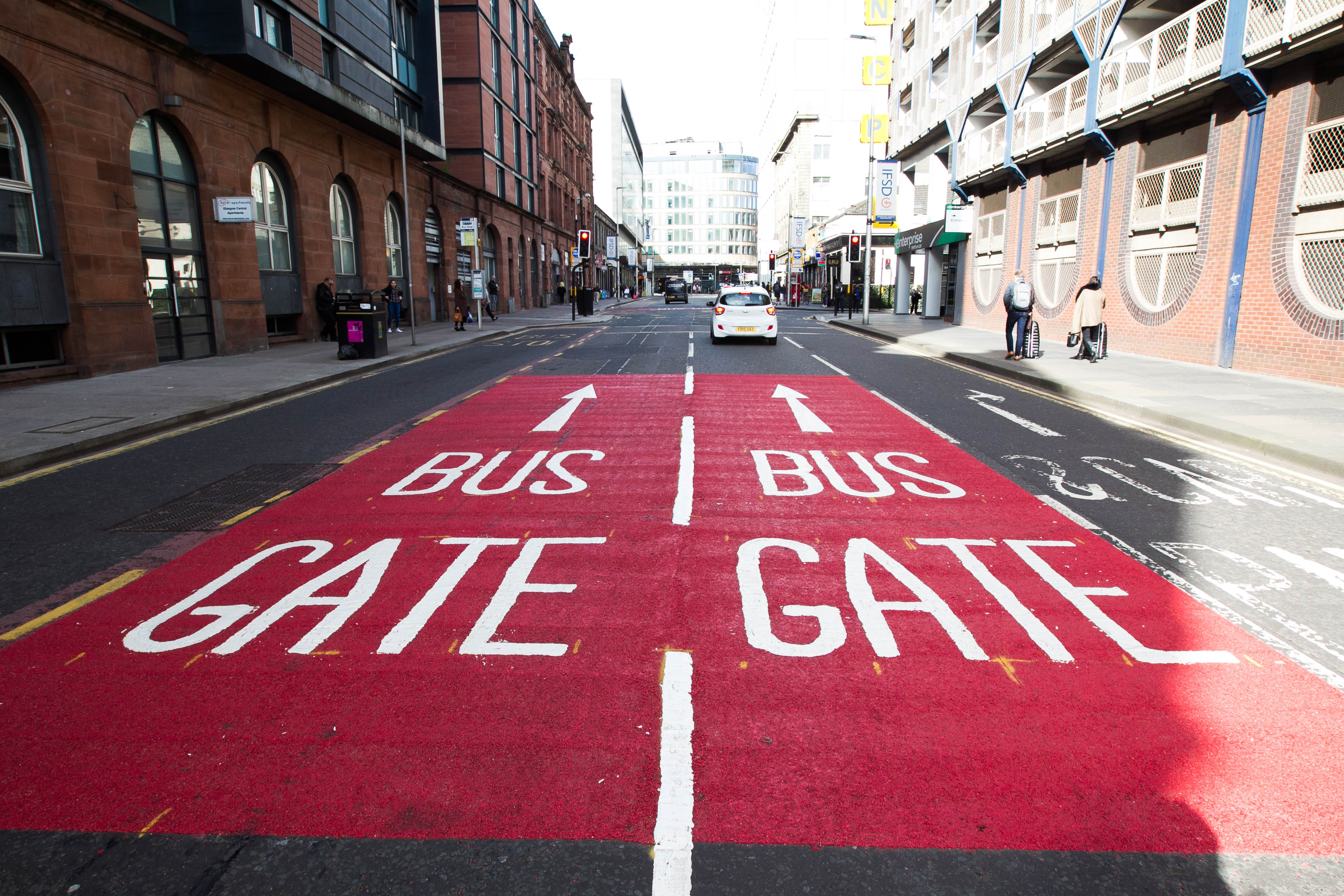 Bus Lanes in Glasgow City Centre.
