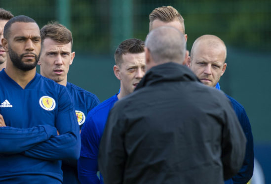 Ryan Jack in training with Scotland