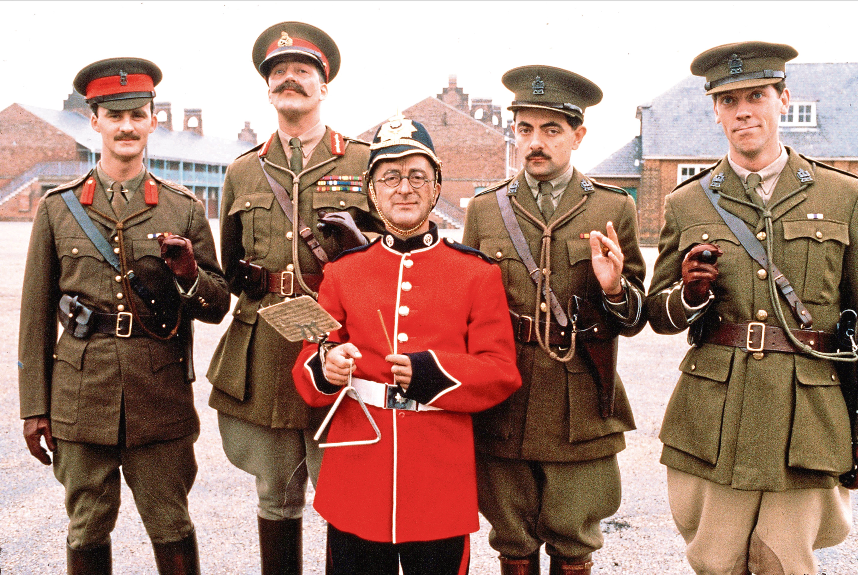Tim as Lord Percy with the cast of the second series of Blackadder