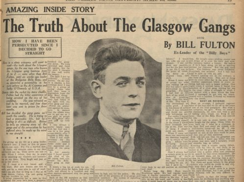Billy Fullerton pictured on the pages of the Weekly News, 1932.
