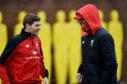 Steven Gerrard and Jurgen Klopp