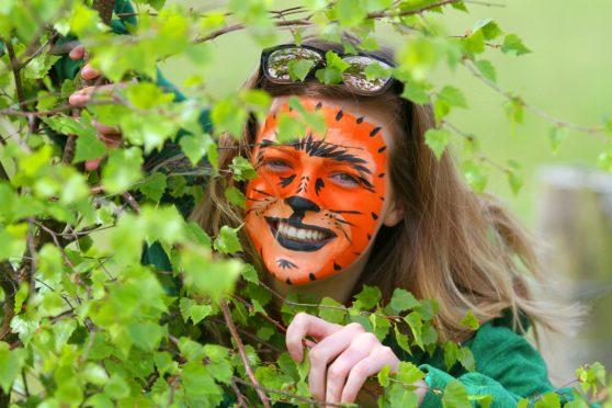 Christina Owen, a teacher at Forfar Academy at a fun day at Murton Farm, a sprawling nature reserve outside Forfar