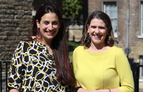 Jo Swinson welcomes ex Labour MP Luciana Berger to Lib Dems last week