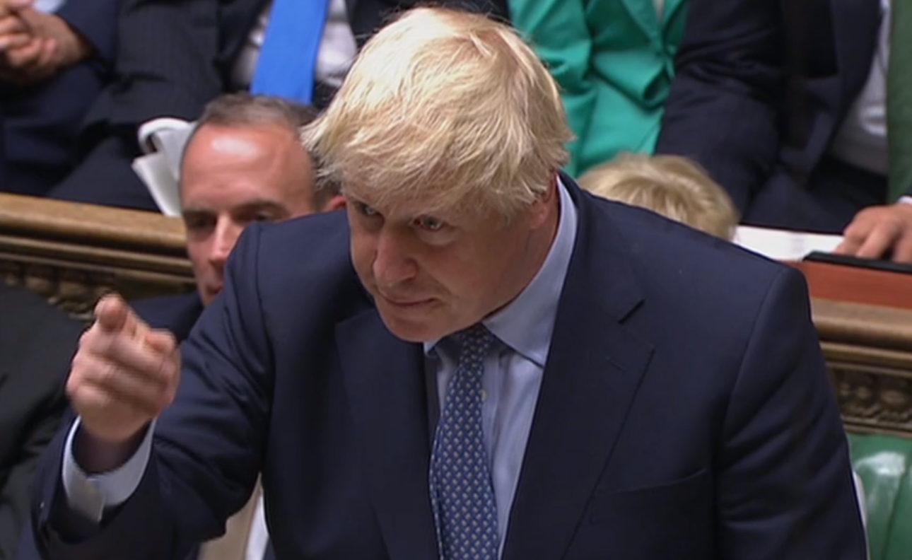 Prime Minister Boris Johnson speaks in the House of Commons