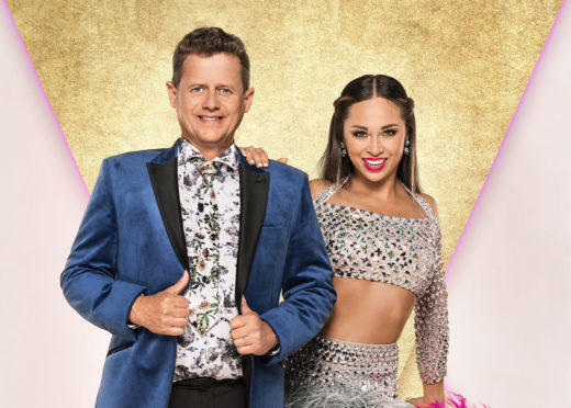 Mike Bushell with his dance partner Katya Jones who are appearing in this year's BBC1 dance contest, Strictly Come Dancing.