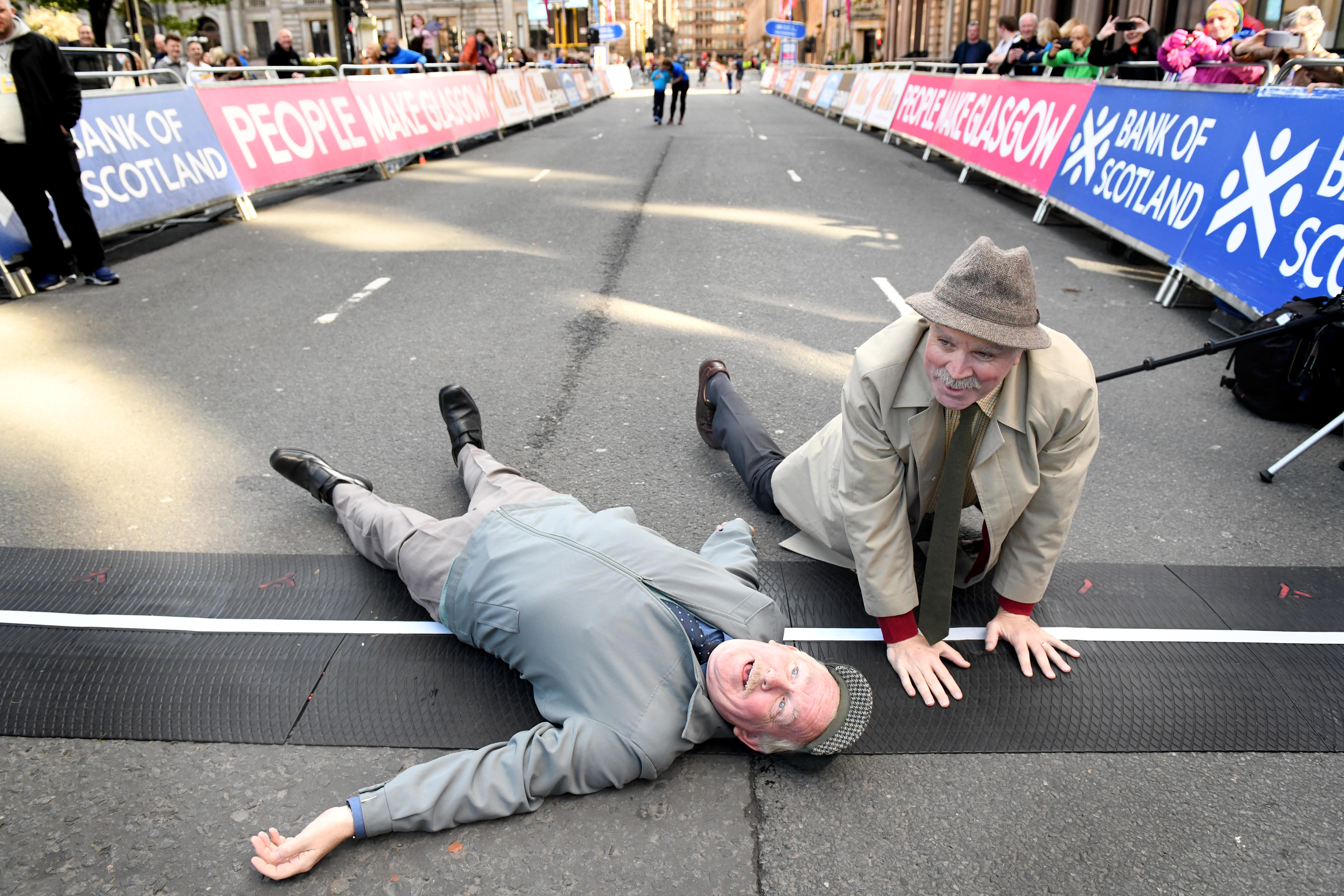 Jack and Victor at the Great Scottish Run event