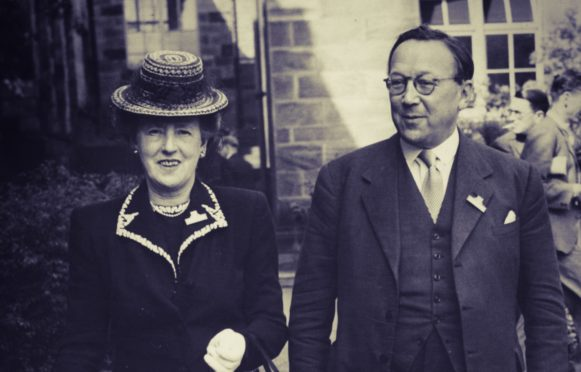 Sir Robert Watson-Watt with his first wife Margaret