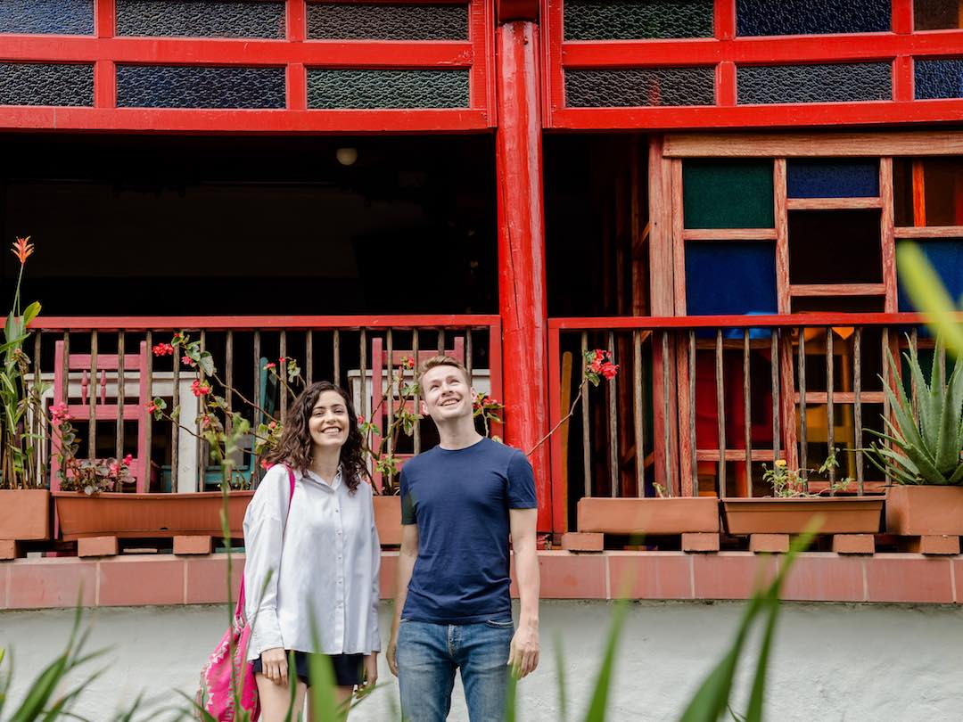 Steve (r), originally from Coatbridge and his wife, Marcela (l), have made their home in Colombia for the past three years. They're encouraging others to visit through their tour company, Other Way Round.