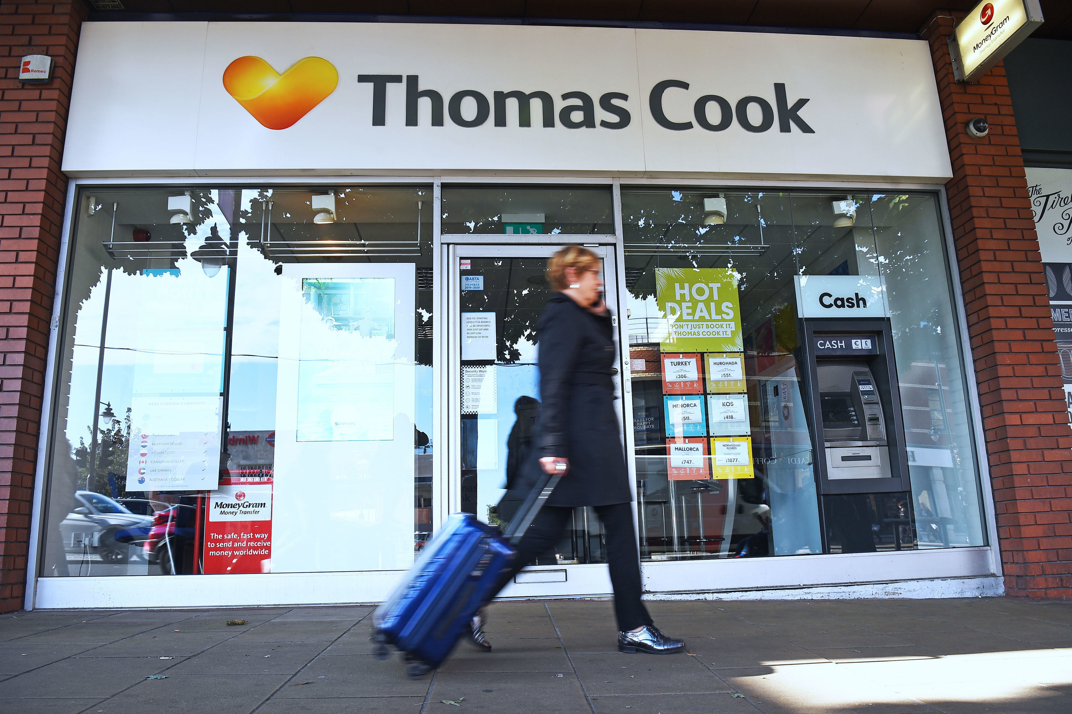 A Thomas Cook high street store