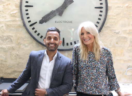 Dr Amir Khan and Gaby Roslin in new TV show, The Science of Sleep.