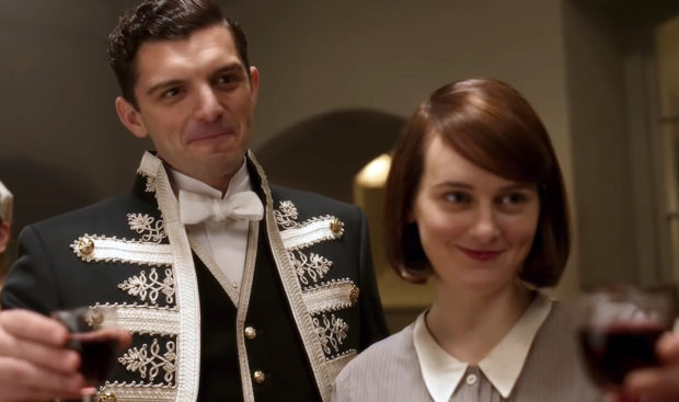 Michael Fox and Sophie McShera as Andrew Parker and Daisy Mason in the Downton film