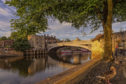 Lendal Bridge at sunset, York.