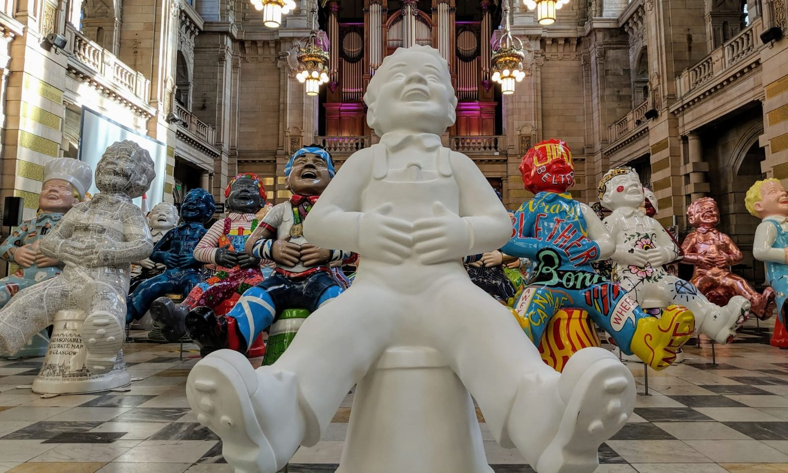 The statues up for grabs in Glasgow.
