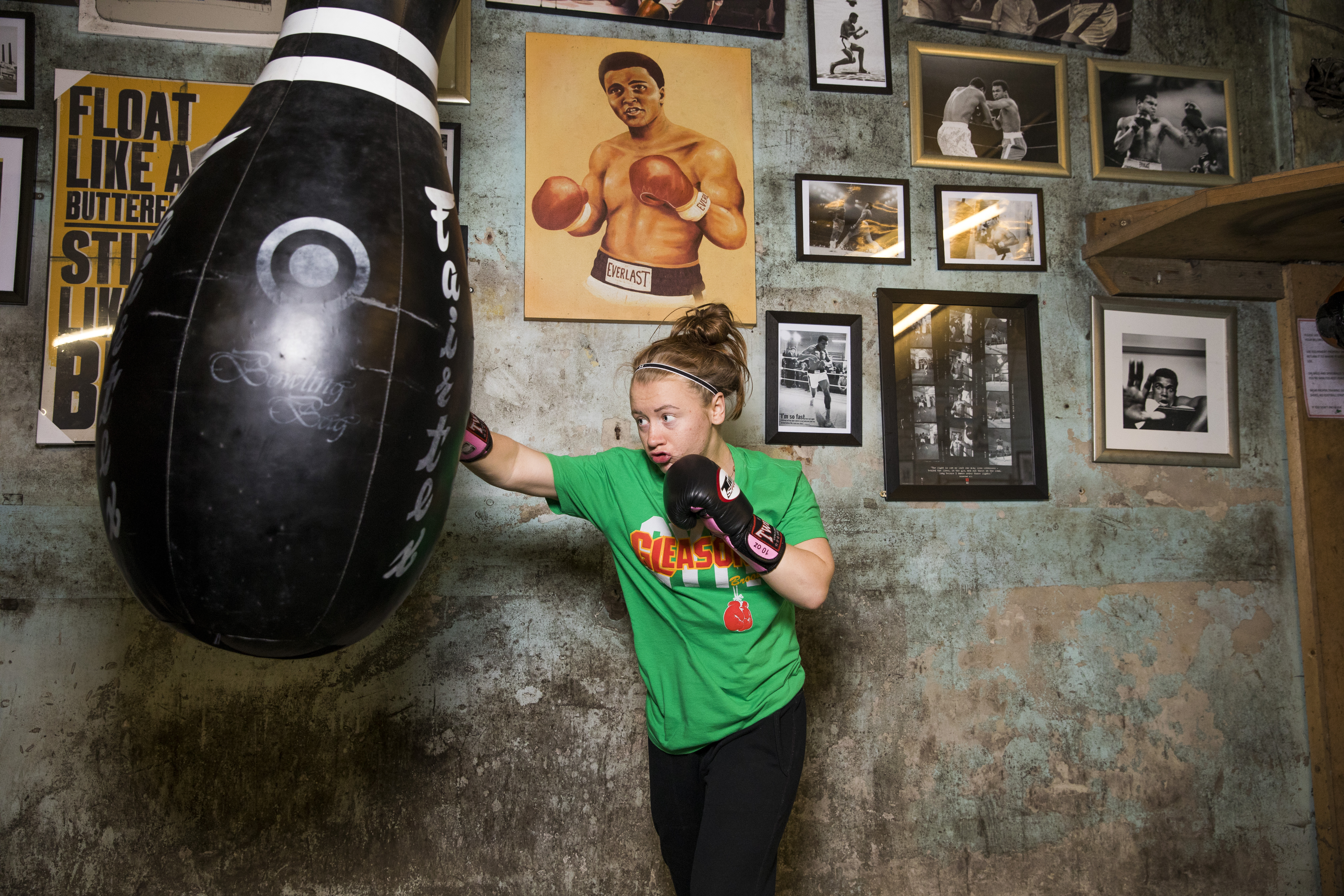Boxer Cassidy Todd from Glasgow while on holiday in New York paid for a training session at the world famous Gleesons Gym, after the session she was invited to move there and be trained full time.