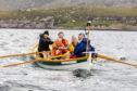 Lorraine rowing the Minch