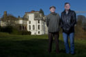 Brothers Arthur and Robert McEwan, right, outside the former St Ninian's School, Gartmore near Stirling, where they were abused. Pupils were taught                      by the De La Salle Catholic religious order until its closure in 1982