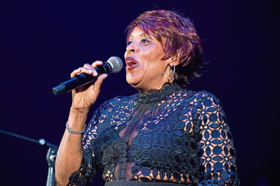 Gwen Dickey performing earlier this year