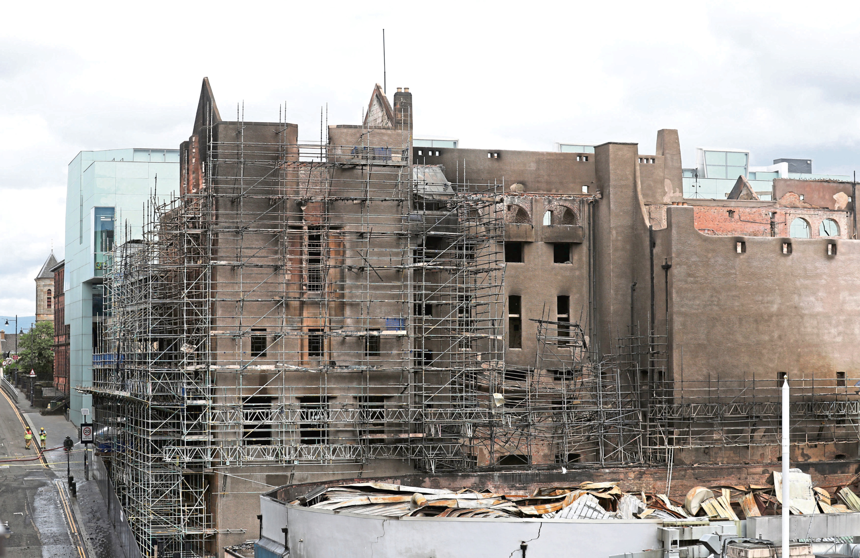 The fire damaged Mackintosh Building